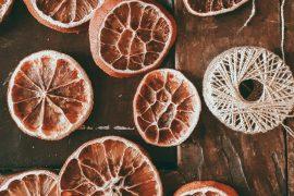 Getrocknete Orangenscheiben DIY Deko