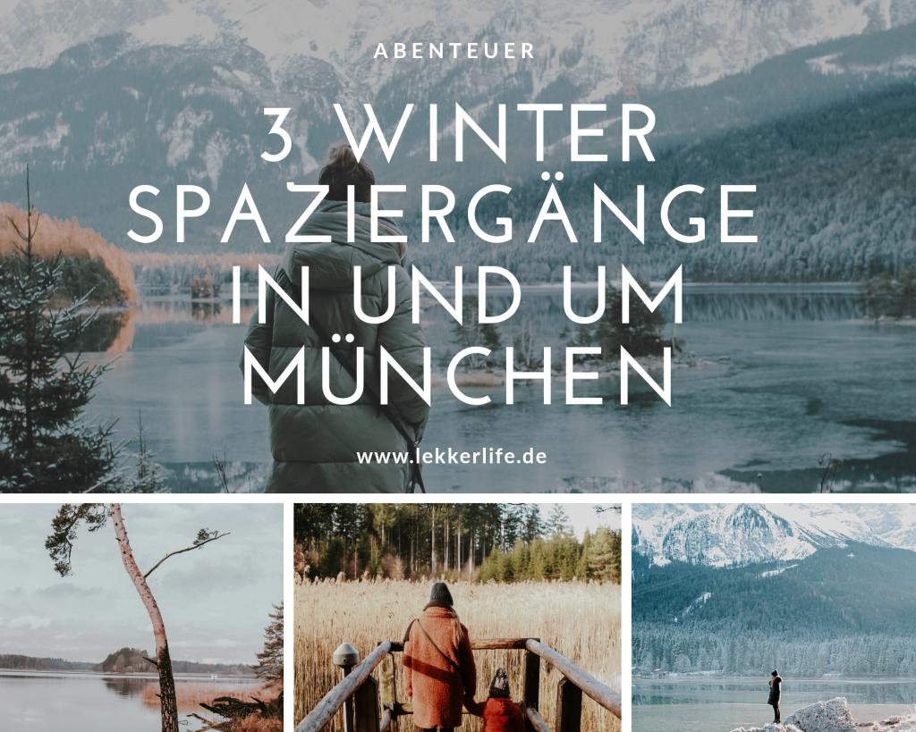 3 Winterspaziergänge um München herum