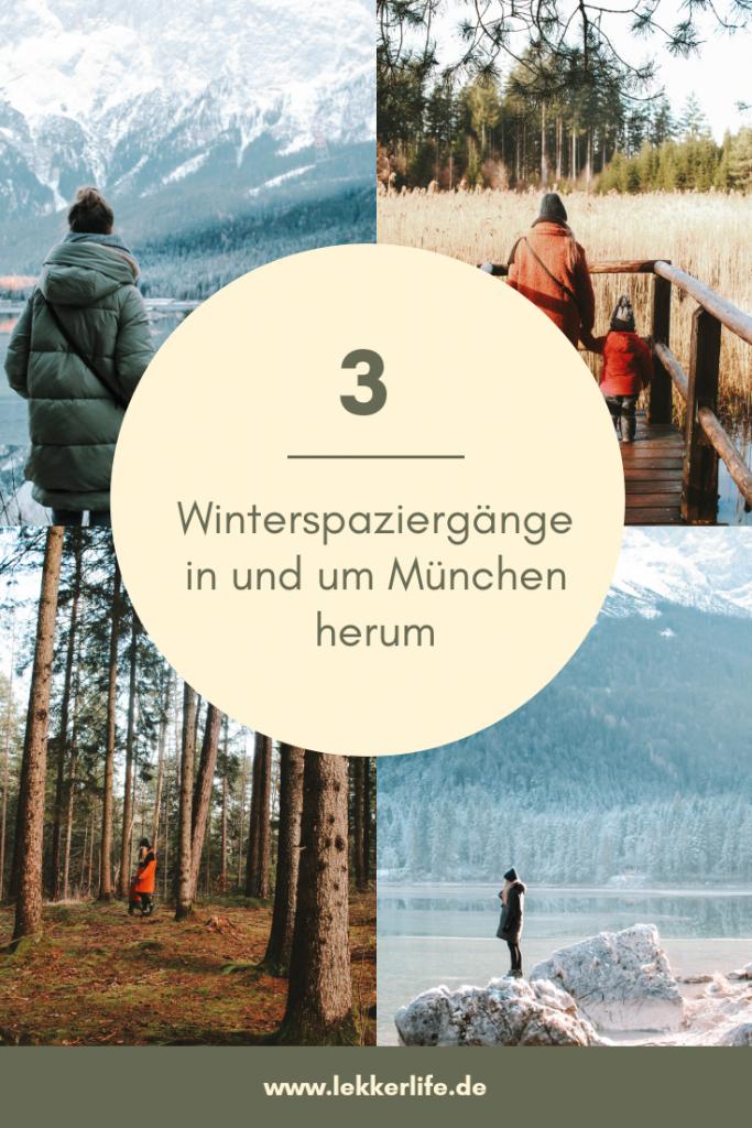 3 Winterspaziergänge in und um München herum