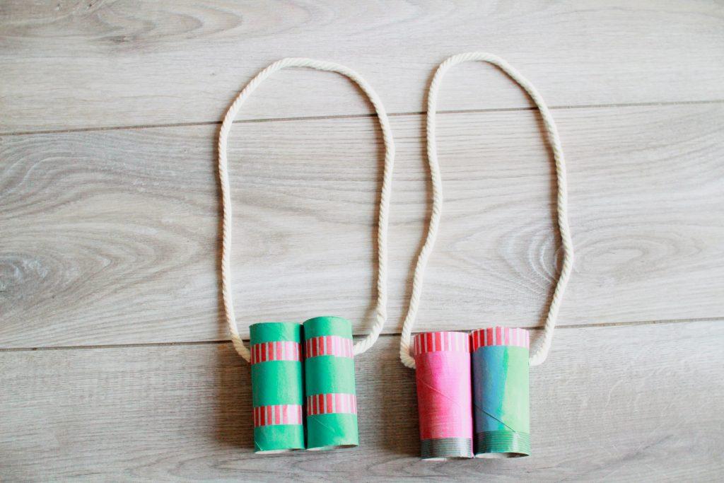 DIY Fernglas aus Toilettenpapierrollen