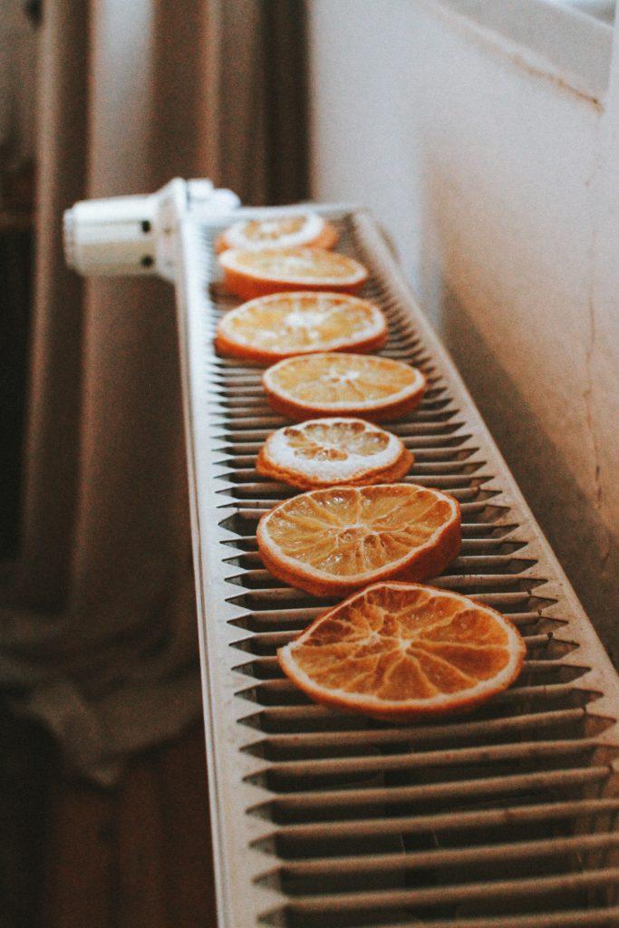getrockneten Orangenscheiben DIY Deko
