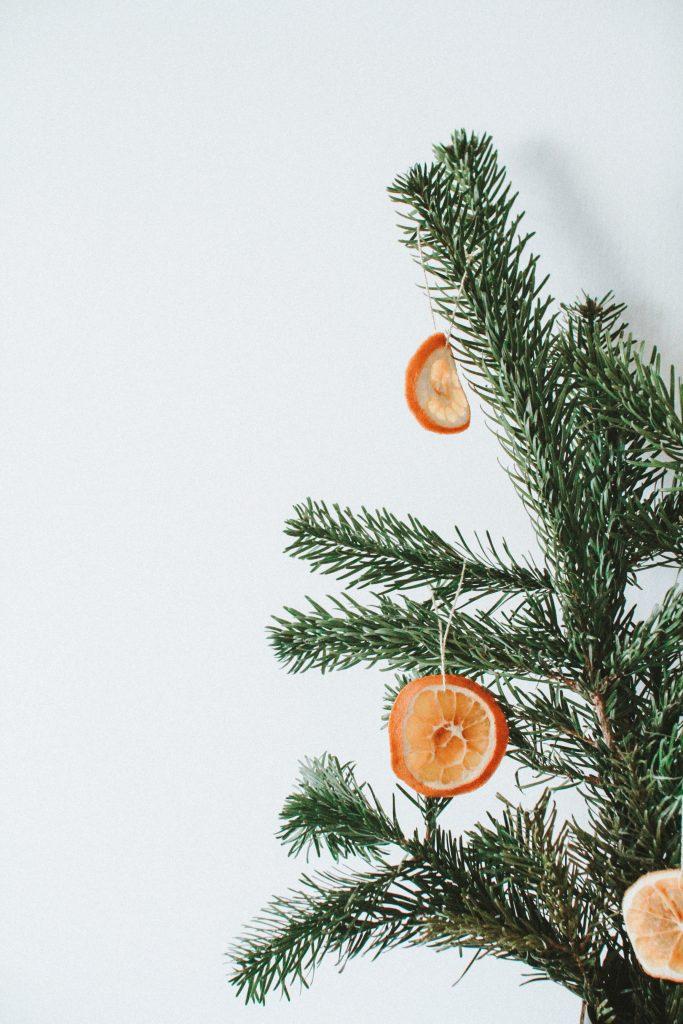 getrocknete Orangenscheiben DIY Deko Weihnachtsbaum