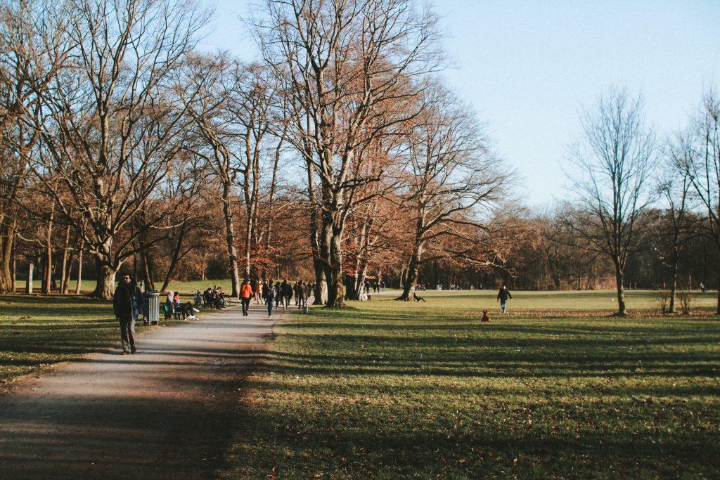 Englischer Garten Winter Spaziergang München